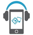 Smartphone with headphones vector image vector image