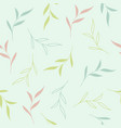 soft colored floral seamless pattern background vector image