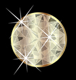 Sparkling gold sapphire vector image
