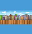 summer or spring cityscape background vector image vector image