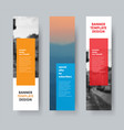 template of vertical banners with transparent vector image vector image