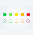 user experience feedback emoticons vector image vector image