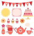 Valentine tea party vector image vector image