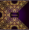 vintage background victorian gold ornament vector image vector image