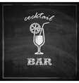 vintage with cocktail on blackboard background bar vector image vector image