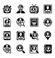 People search icon set vector image