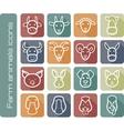 Farm animals icons vector image