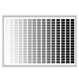 grey colors palette color shade chart vector image