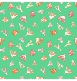 Nautical pattern with small red corals vector image