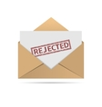Rejected letter vector image