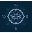 Wind rose Polaris coordination compass poster vector image