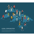 People Poster Of Global Communication vector image