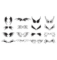 Wings icons set vector image