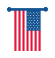 4th july independence day hanging american vector image