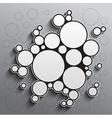 Abstract background with black and white circles vector image vector image
