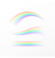 abstract rainbow in different shapes spectrum of vector image vector image