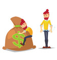 adult hipster characters in casual clothes vector image