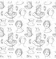 antique sculpture seamless print for print vector image vector image