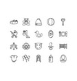 baby icon collections with hand drawn collections vector image vector image