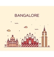 Bangalore skyline linear vector image vector image