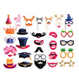 birthday party photo booth element set vector image vector image