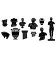black doodle sculptures abstract ancient greek vector image vector image