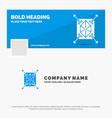 blue business logo template for object vector image
