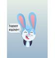 bunny head smiling vector image vector image