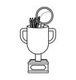 champion trophy cartoon vector image