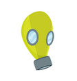 chemical experiment laboratory equipment gas mask vector image