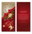 christmas card with angel and jingle bells vector image vector image