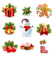 Christmas object element vector image