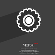 cogwheel icon symbol Flat modern web design with vector image vector image