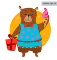colored bear vector image vector image