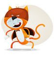 comic super cat vector image vector image