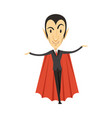count dracula vampire standing in suit and red vector image vector image