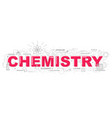 creative chemistry with line icon vector image