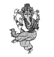 Dancing Ganesha Icon vector image