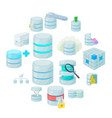 data base icons set vector image vector image
