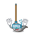 diving mop character cartoon style vector image vector image