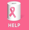 Donate for breast cancer research and prevention vector image
