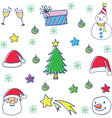 Doodle of christmas object cartoon vector image