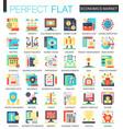 economics market complex flat icon concept vector image vector image