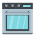 electric oven icon cartoon style vector image vector image