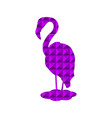 flamingo silhouette purple abstraction vector image vector image