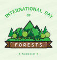 forests day vector image