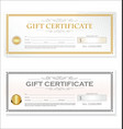 gift voucher template retro vintage design vector image vector image