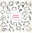 Hand Drawn Design Elements Set vector image vector image