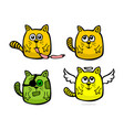 hand drawn funny cats vector image
