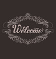 hand drawn lettering welcome with shadow elegant vector image vector image